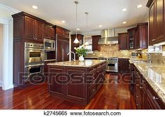 Cherry kitchen cabinet design ideas have close relation with any warm color design. We can tell you how to improve your cherry kitchen design ideas into magic Luxury Kitchens, Kitchen Remodel, Kitchen Design Pictures, Kitchen Remodel Small, New Kitchen, Cherry Kitchen, Home Kitchens, New Kitchen Designs, Kitchen Renovation