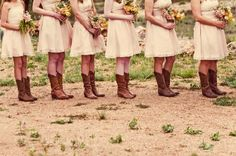 Boots with bridesmaid dress
