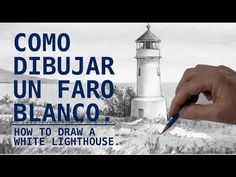COMO DIBUJAR UN FARO BLANCO./How to draw a white lighthouse. - YouTube