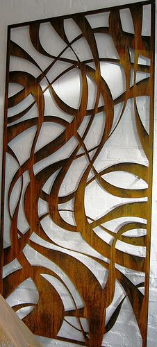 Corten rusting steel screen by Pierre Le Roux Design. www.plrdesign.com.au