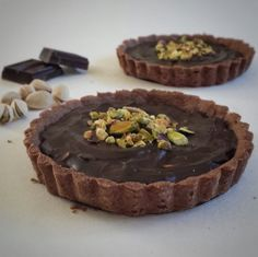 Chocolate Pistachio Tart