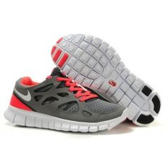 Wholesale Nike Free Run+ 2 Grå Rød Dame Skobutik | Brand nye Nike Free Run+ 2 Skobutik | Billigt Nike Free Skobutik | denmarksko.com