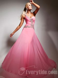 Wholesale One Shoulder Pink Semi Formal Attire With Appliques