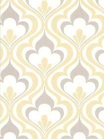 Wall Paper Lola Yellow Ogee Bargello pattern 253520601. Keywords describing this…