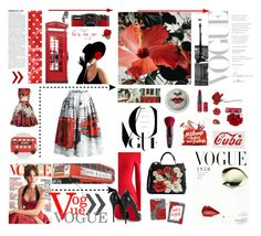 """""""Vogue Template: London Skirt"""" by bnspyrd ❤ liked on Polyvore featuring LØMO, Fornasetti, Chicwish, Dolce&Gabbana, Christian Louboutin, Accessorize, Rimmel, ULTA, Guerlain and Clips"""