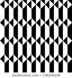 Imagens, fotos stock e vetores similares de Vector seamless geometric pattern in black and white triangles, op art background - 367154834 Geometric Patterns, Tile Patterns, Geometric Shapes, Op Art, Shape Design, Pattern Design, Black White Pattern, Black And White, Wall Clock Sticker