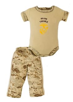 """Major Trouble"" Desert MARPAT 2pc Pant Set - Ammo Can Man"