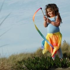 Fun Dress Up Play! Silk Fairy Skirt to fit 2- to 6-year-olds. From Bella Luna Toys. $34.95.