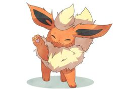 Now I know that I'm a flareon trainer. Nice one 😁 I love flareon as much as umbreon Pokemon Team, Pokemon Show, Gif Pokemon, Fotos Do Pokemon, Pokemon Mignon, Chibi, Pokemon Eevee Evolutions, Cute Pokemon Pictures, Digimon