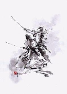 Samurai Warrior Painting Original Art Japan Style by SamuraiArt Ronin Samurai, Samurai Warrior, Japan Art, Osaka Japan, Image Japon, Tattoo Oriental, Samurai Concept, Warrior Paint, Original Paintings