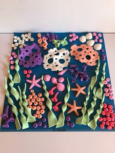 Fondant Under The Sea Cake Topper Decoration Shells Mermaid Party - Cake Decorating Simple Ideen Fondant Toppers, Fondant Cakes, Cupcake Cakes, Mini Cakes, Fondant Bow, 3d Cakes, Fondant Flowers, Fondant Rainbow, Ocean Cakes