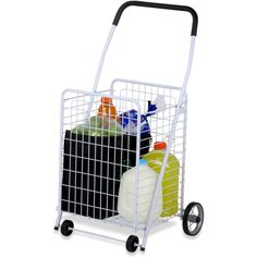 Wheeled Utility Cart Rolling Shop Handcart Storage Steel
