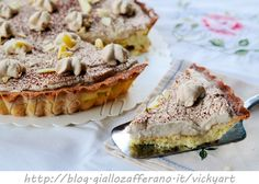 Crostata al cappuccino e cioccolato bianco, frolla morbida farcita, ganache al cappuccino, crostata al caffè, ricetta facile, dolce da merenda, veloce, pasta frolla