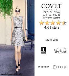 Day 2: NOLA Coffee House @covetfashion #covet #covetfashion #covetfashionapp #fashion #womensfashion #covetwinter2015 #winter2015 #emmaroberts #covethostedbyemmaroberts #sargossa #raoul #kotur #stellavalle #jembereeyewear