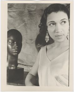 """Elisabeth Welch (1904-2003) the American singer who introduced the """"Charleston"""" on Broadway before becoming a superstar in England, photographed by Carl Van Vechten on January 19, 1933. She was the first singer to popularize the classic Cole Porter tune, """"Love for Sale"""" and it would become a signature song in her career. She also introduced """"Stormy Weather"""" to British audiences and would be so beloved there, she remained for the rest of her life. Photo: Beinecke Rare Book and Manuscript…"""