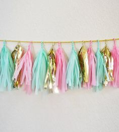 Pink & Mint Tassel Garland | Gifts Crafting & DIY | Glam Fete | Scoutmob Shoppe | Product Detail