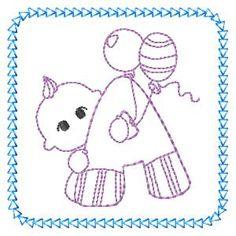 Baby Alphabet - Free machine embroidery designs - Kreative Kiwi