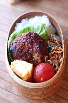 ハンバーグ&焼きそば弁当 | hamburger & yakissoba lunch