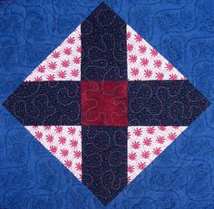Mountain Peak Quilt Block and a Song for Sunday