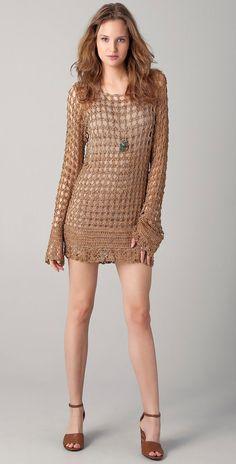 CROCHET moda exclusiva del ganchillo mini vestido  por LecrochetArt, $390.00