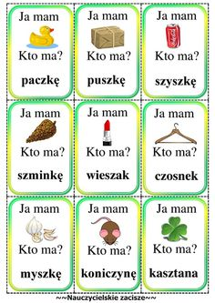 ja mam kto ma gra cz jak czapka Polish Words, Diy And Crafts, Crafts For Kids, Polish Language, Kids Education, Speech Therapy, Preschool Activities, Kindergarten, Homeschool