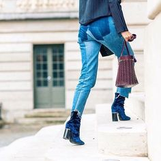 """Who What Wear on Instagram: """"Ankle boots are the holy grail of footwear— but there are certain brands fashion girls tend to play favorites with. The 7 brands that stylish women can't get enough of at the link in our bio. // Photo by @theoutsiderblog"""""""