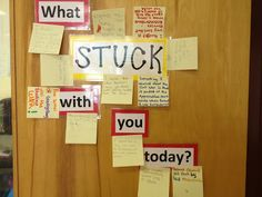 Could be modified for a school counseling office: could be a positivity wall or something like that (what is one thing that was positive that stuck with you today)
