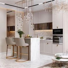 Home Decor Ideas gathered a few modern kitchen ideas, from the world's top interior designers, so you too can feel inspired to renovate your luxury kitchen. Luxury Kitchen Design, Kitchen Room Design, Home Decor Kitchen, Interior Design Kitchen, Diy Kitchen, Kitchen Hacks, Kitchen Ideas, Kitchen Cleaning, Awesome Kitchen