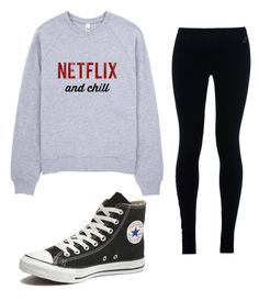 """Untitled #154"" by xnyahx on Polyvore featuring NIKE and Converse"