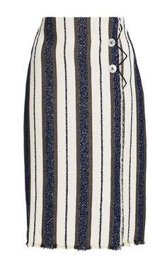 Edun Stripe Wrap Skirt