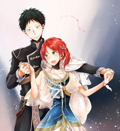 Akagami no Shirayukihime / Snow White with the red hair Manga Couple, Anime Couples Manga, Cute Anime Couples, Anime W, Anime Love, Hotarubi No Mori, Akagami No Shirayukihime, Snow White With The Red Hair, Kawaii