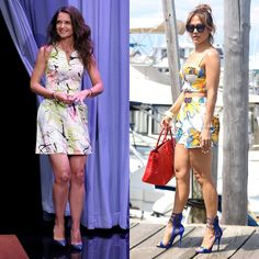 Jennifer Lopez and Katie Holmes Go Graphic for Summer
