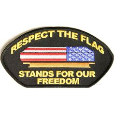 Respect Our Flag Patriotic Iron on Cap Patch Flag Patches, Sew On Patches, Iron On Patches, Respect The Flag, America Pride, Flag Stand, Tactical Patches, Patch Design, Casket