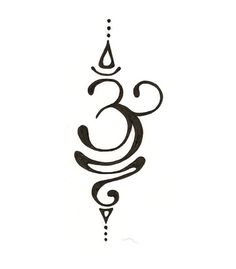 Beautiful OM~ This would make a cool tattoo