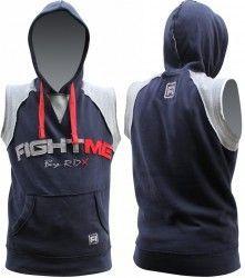 Authentic RDX Fleece Fight Me Sleeveless Hoodie MMA Boxing T Shirt Shorts Gym Vest Mens