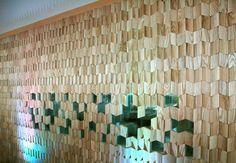 Timber screen at Bella Sky Comwell Hotel, Copenhagen.