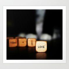 love Art Print by ingz - $18.00