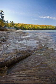 Mosquito Beach, Pictured Rocks National Lakeshore, Lake Superior, Upper Peninsula, Michigan