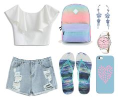 """Blue and Pink"" by tlb0318 on Polyvore featuring Havaianas, Vans, Casetify, Chicwish and Tommy Hilfiger"