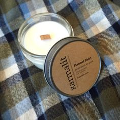 Flannel Shirt Natural Soy Candle 4 oz : Highly Scented by KarmaLit