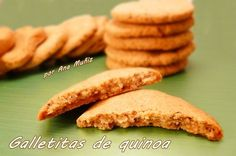 Galletas de quinoa con cobertura de fresas, sin gluten, sin azúcar, sin lactosa