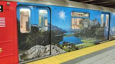 new ad on nyc s-train. check out the alps on the way to work.  new ads by #swiss