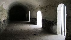 Slave holding cell inside Elmina Slave Castle, Ghana, West Africa.  ---Your heart's sensitivity will really be put to the test at this slave castle...true story!