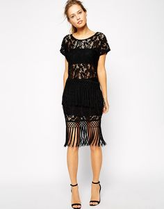 Supertrash Fringed Skirt in Velvet co-ord