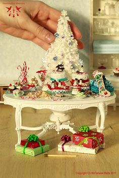 Festive holiday table in miniature