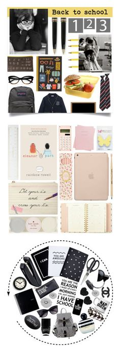 """""""Winners for Back to School Supplies"""" by polyvore ❤ liked on Polyvore featuring interior, interiors, interior design, home, home decor, interior decorating, Montblanc, Dot & Bo, Kate Spade and JanSport"""