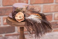 Steampunk Mini Top Hat Fascinator in Orchid FRABJOUS/ by LilyMairi, $55.00