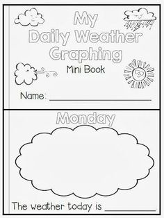 Flying into First Grade: Weather book freebie. I would use this activity so that the students can track the daliy weather. Weather Kindergarten, Teaching Weather, Preschool Weather, Weather Crafts, Weather Science, Kindergarten Science, Elementary Science, Math Literacy, Free Preschool