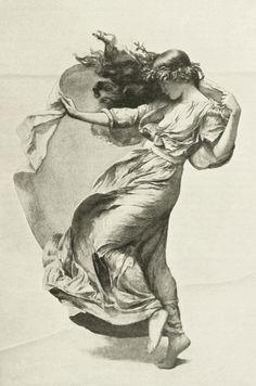 a-little-bit-pre-raphaelite:  Draped Figure on a...