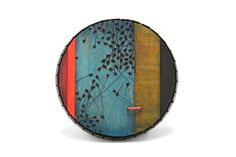 """Julia Turner """"Blue Swarm"""" brooch, 2012. Wood (burned, painted), vitreous enamel and steel. 2.4 in (6 cm diameter)."""